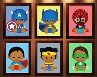 Superhero Nursery, Superhero Wall Art, Superheroes Nursery, Superheroes Wall Art, Superhero Art, Superhero Print, Superheroes Prints, 12