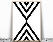Mid Century Wall Art, Mid century Print, Mid century Art, Geometric Wall Art, Black Geometric Art, Modern Geometric, Simple Printable Art