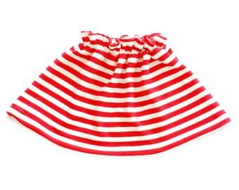 Baby Girl Skirt, Toddler Girl Skirt, Baby Girl Clothes, Toddler Girl Clothes, Red Skirt, Striped Skirt, Twirl Skirt, Skater Skirt, Baby Gift