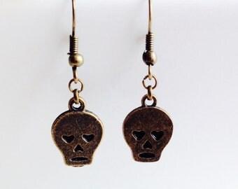 Skull | Heart | Sad | Emo | Earrings