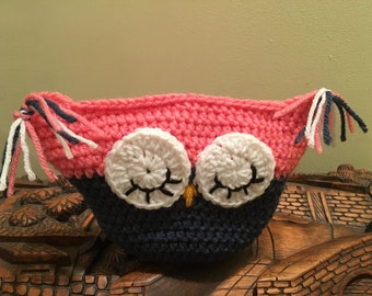 OWL PILLOW: Whoooo Loves You Pick Me Pink Owl