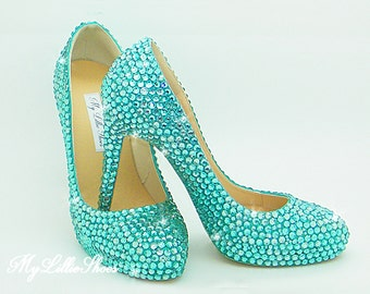 Shoes ~ Bling high heels ~ Wedding, Bridesmaid, Graduation, Prom, Party, Quincearera, Birthday, Sweet 16, 21st, 18th, Mother of the Bride