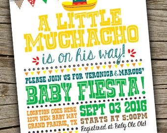 Fiesta Baby Shower Invite/ Fiesta Invitation / Fiesta Babyshower / Mexican Fiesta Baby Shower/ Fiesta Digital Invite/ Fiesta Theme Shower