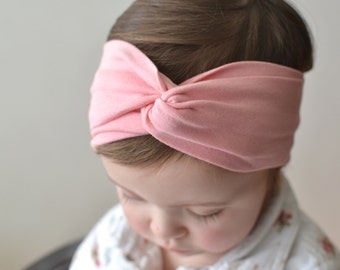 Turban Headband , Baby Turban Headwrap, Girl's Turban,  Adult Turban Headband, Twisted Headband | Rose Quartz