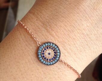 Bracelet, Zircon Bracelet, Sterling silver bracelet, Gemstone bracelet, Gold filled bracelet, Hand made ring, Gift for her