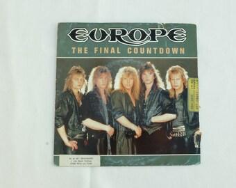 Europe – The Final Countdown / 45 tours / Disque vinyle / 45 records RPM / Microsillon.