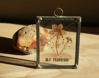 San Francisco Sun Catcher with Dried Flowers