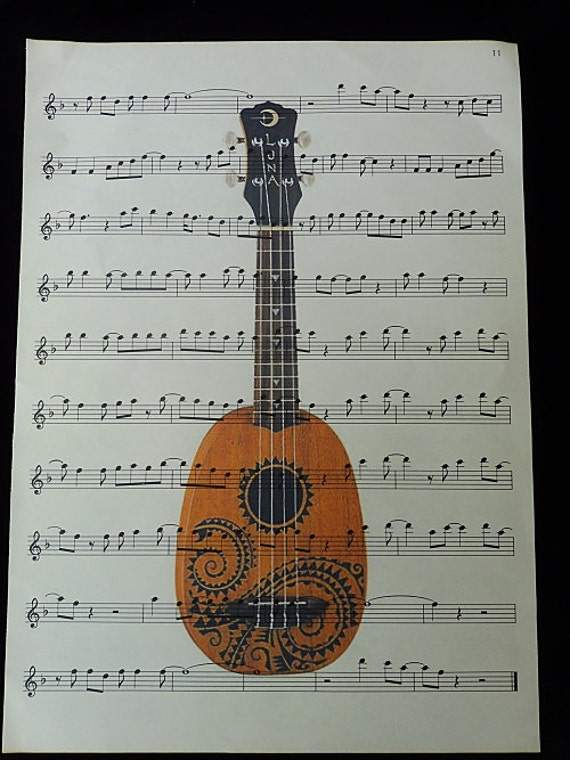 Ukulele print music gifts ukulele poster ukulele decor for Decoration ukulele