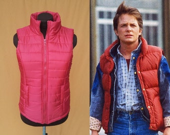 Ladies Marty McFly Style Red Vest