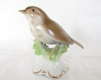 Gerold Porzellan Bavaria Vintage hand painted bird figuring statue figure sparrow