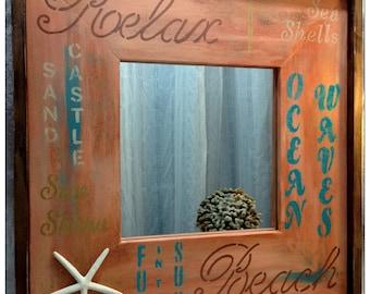 Bathroom Mirrors Coastal beach mirror   etsy