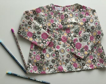 Floral print blouse with long sleeves for kids