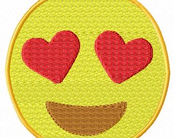 Wink Emoji Embroidery Design 3 Sizes From DesignerStitched On Etsy Studio