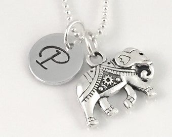 Elephant charm necklace, best friend necklace, charm necklace,  good luck charm,  gift for her, friend gift, mother gift, daughter gift