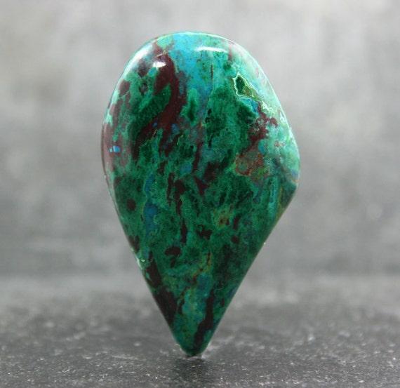 Red Malachite Stone : Chrysocolla malachite quartz cabochon blue green gemstone