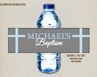 Baptism Water Bottle Label, Christening Water Bottle Label, Baptism Label, Custom Water Label, Religious Label, Baptism Decor, Baptism,Label