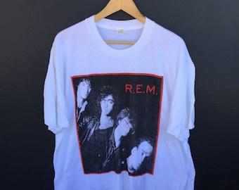 REM Deadstock Green World Tour 1989 vintage Tshirt