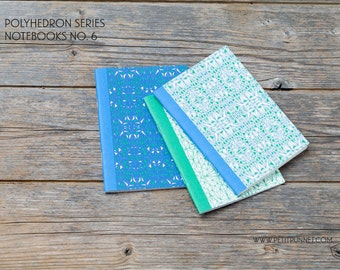 Set of 3 Pocket Notebooks: Polyhedron Series No.6