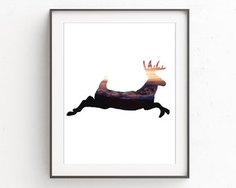 Nursery Print Deer | Nursery Forest Art | Deer Prints