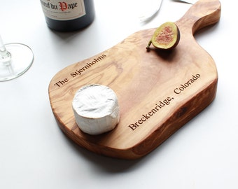 Personalized Rustic Cheese Board
