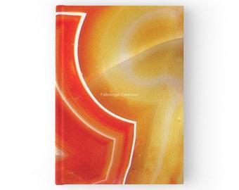 Hard Cover Journal, Orange Agate