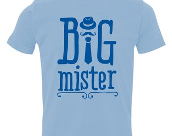 Big Brother Shirt, Big Mister Shirt, Brothers Sibling Shirt, Big Bro T-Shirt, Big Mister Sibling Shirts