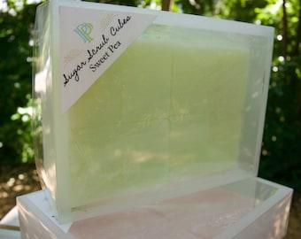 Sugar Scrub Cubes - Sweet Pea
