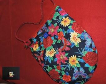 china blue shoulder bag