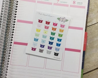 Crockpot (Slow Cooker) Life Planner Stickers - Quarter Page (4126Q)