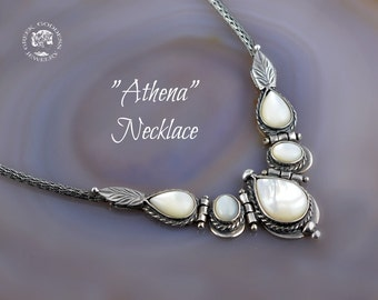 mother of pearl silver necklace, mother pearl necklace, byzantine necklace, pearl necklace, byzantine jewelry, greek necklace, mother pearl