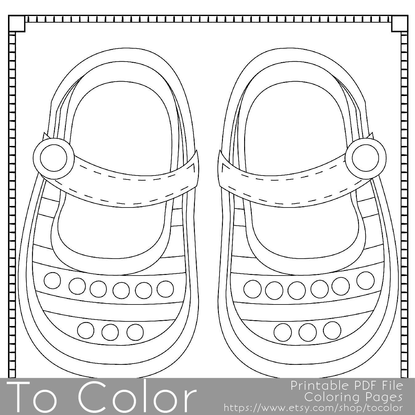 baby booties coloring pages - photo #6