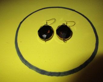 Twinkling Brown dangle earrings