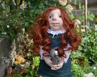 Handmade Doll- Eliza-41cm (EO 15'10) - - textile doll- fabric doll- rag doll- home decoration- handmade toy