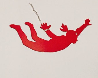 Skydiving Ornament available in male and female versions