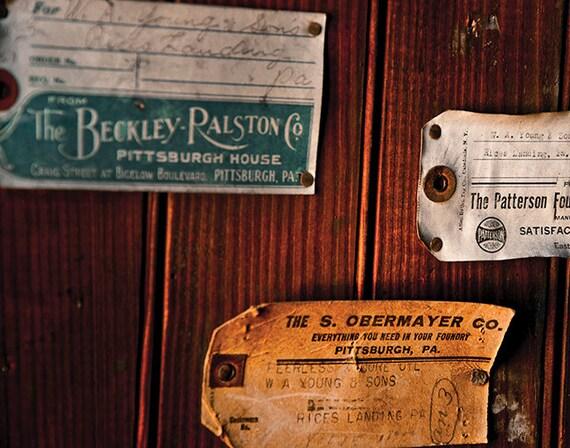 Foundry, Wood Print, Abandoned, Rust, Wall Art, Pittsburgh, Pennsylvania, Industrial, Machine Shop
