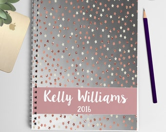 2016 Personalized Planner (Silver & Rose Gold)