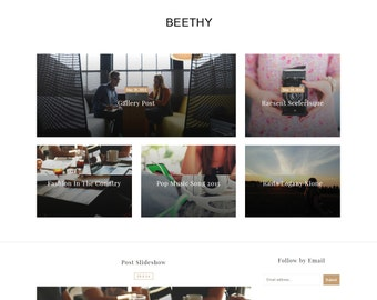 Beethy - Elegant Blogger Template.
