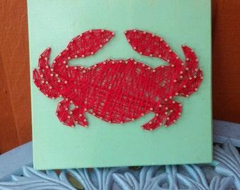 Nautical Crab String Art Home Decor