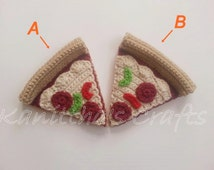 Amigurumi pizza slice/Crochet pizza/Crochet play food/Crochet food/Christmas gift/Birthday gift/gift idea
