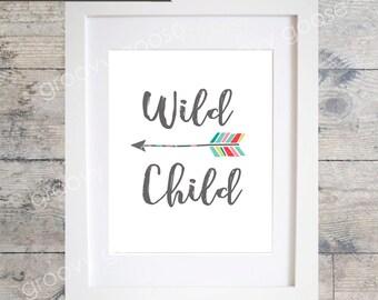 Great KIDS WALL ART  Wild Child Arrow   Rainbow  Kids Room Decor  Kids Wall Part 3