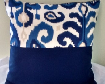 Sheila Blue Pillow Covering
