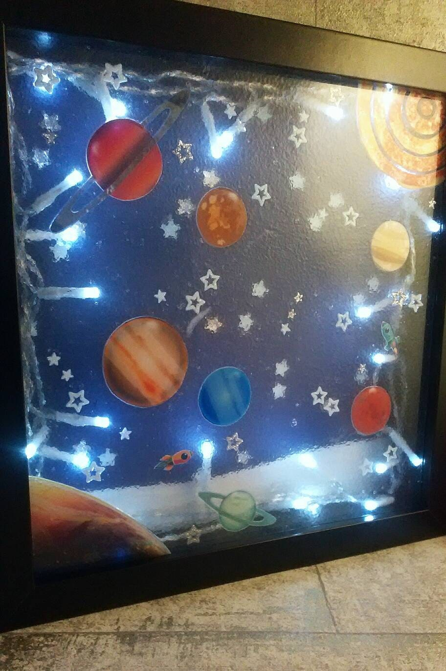 Solar system night light kids room space decor the by for Kids room night light