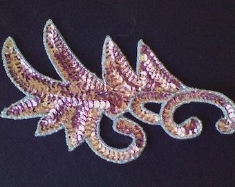 4a) Pink Sequin Applique