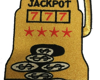 Vintage Slot Machine 'JACKPOT' Patch