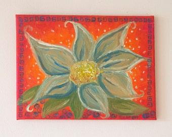 Oriental Flower Oil Painting