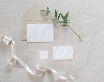 Wedding Invitation Mockup | Brown Envelope with Placeholders