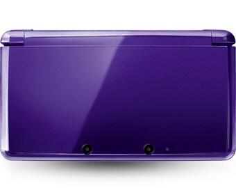 Nintendo 3ds in midnight purple