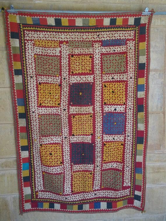 vintage applique and patchwork ralli quilt
