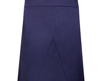 Royal Blue clean A-line skirt