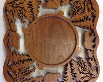 North Woods Candle Ring – Walnut